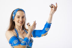De vrouw van de buikdanser Royalty-vrije Stock Foto