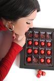 De vrouw van de chocolade Royalty-vrije Stock Foto's