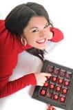 De vrouw van de chocolade Royalty-vrije Stock Fotografie