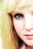 De vrouw van de close-up Royalty-vrije Stock Foto's