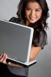 De Vrouw van de computer Royalty-vrije Stock Fotografie