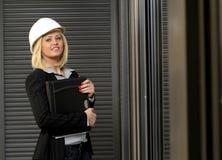 De vrouw van de contractant stock fotografie