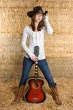 De Vrouw van de country muziek Stock Afbeeldingen