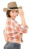 De vrouw van de cowboy. Royalty-vrije Stock Afbeelding