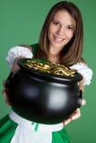De Vrouw van de Dag van Patricks Stock Foto's