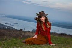 De vrouw van de de herfstmanier Stock Foto's