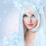 De Vrouw van de de winterschoonheid Stock Fotografie