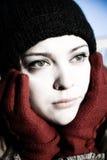 De Vrouw van de depressie Stock Foto's