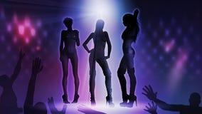 De Vrouw van de disco Stock Afbeelding