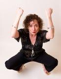 De Vrouw van de disco Stock Foto's