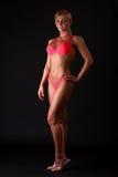 De vrouw van de geschiktheid in bikini Stock Afbeelding