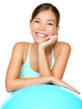 De vrouw van de geschiktheid pilates het glimlachen Royalty-vrije Stock Foto's