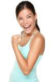 De vrouw van de geschiktheid - verse energie Royalty-vrije Stock Foto