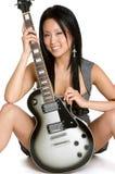 De Vrouw van de gitaar Royalty-vrije Stock Foto's