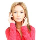 De vrouw van de glamour met verse dagelijkse make-up Royalty-vrije Stock Foto's