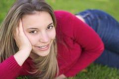 De Vrouw van de glimlach Royalty-vrije Stock Foto