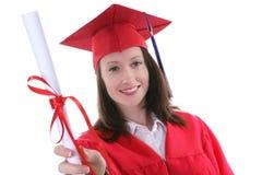 De Vrouw van de graduatie royalty-vrije stock afbeelding