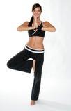 De vrouw van de gymnastiek Stock Fotografie