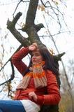 De vrouw van de herfst royalty-vrije stock foto's