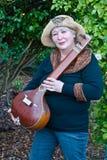 De Vrouw van de hippie met Tambouri Royalty-vrije Stock Foto's