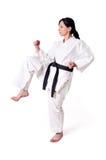 De vrouw van de karate het stellen royalty-vrije stock foto's