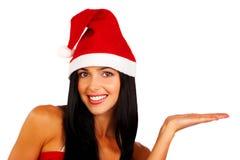 De Vrouw van de kerstman Royalty-vrije Stock Afbeeldingen