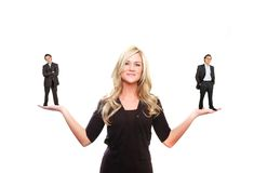 De vrouw van de leider Stock Afbeelding
