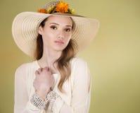 De vrouw van de lente Stock Foto