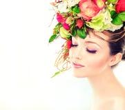 De vrouw van de lente Stock Fotografie