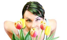 De Vrouw van de lente Stock Afbeeldingen