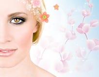 De vrouw van de lente Stock Afbeelding