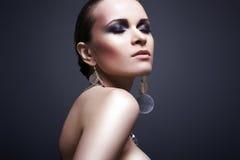 De vrouw van de luxe met avondsamenstelling Royalty-vrije Stock Fotografie