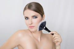 De vrouw van de make-up stock fotografie