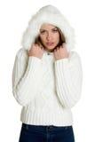 De Vrouw van de Manier van de winter Royalty-vrije Stock Afbeelding
