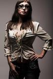 De vrouw van de manier in zonnebril Royalty-vrije Stock Afbeeldingen