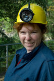 De vrouw van de mijnwerker royalty-vrije stock foto