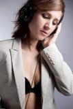 De vrouw van de muziek Royalty-vrije Stock Foto