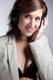 De vrouw van de muziek Royalty-vrije Stock Afbeelding