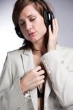 De vrouw van de muziek Stock Afbeelding