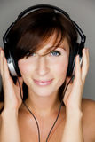 De vrouw van de muziek Stock Fotografie