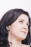 De Vrouw van de muziek Royalty-vrije Stock Foto's