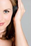 De Vrouw van de muziek Royalty-vrije Stock Afbeeldingen