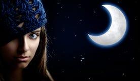 De Vrouw van de nacht Royalty-vrije Stock Afbeeldingen