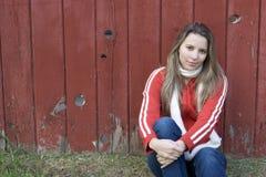 De Vrouw van de omheining Stock Fotografie