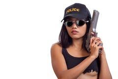 De vrouw van de politie Stock Foto