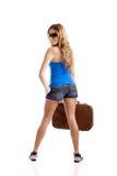 De Vrouw van de reiziger Stock Afbeeldingen