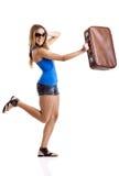De Vrouw van de reiziger stock afbeelding
