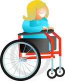 De vrouw van de rolstoel vector illustratie