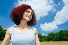 De vrouw van de roodharige Royalty-vrije Stock Fotografie