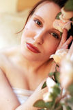 De vrouw van de schoonheid Stock Afbeeldingen